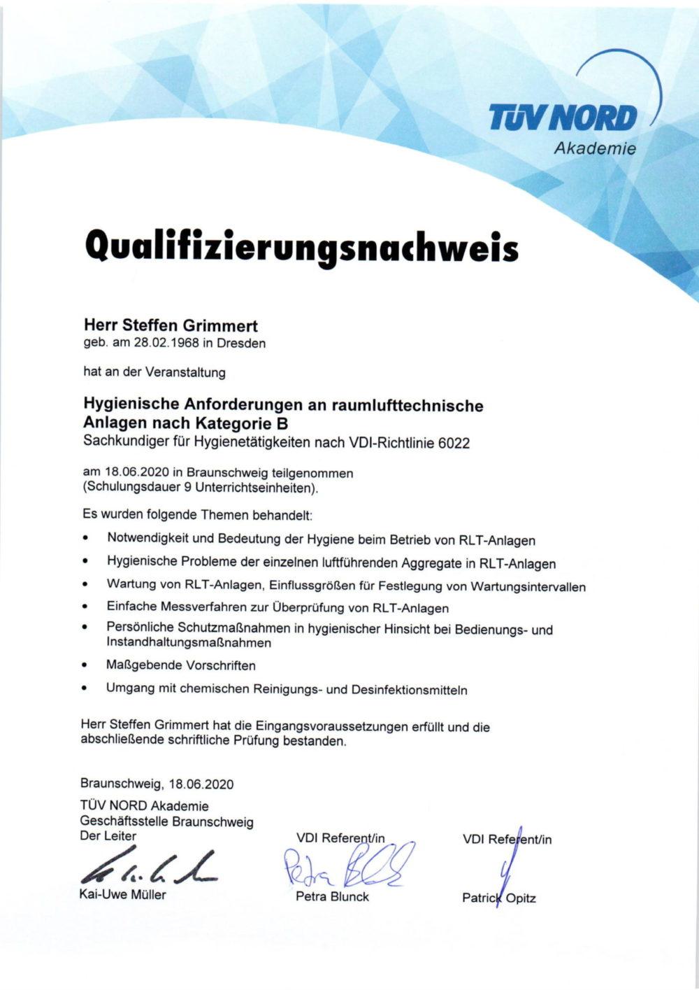 Qualifizierungsnachweis